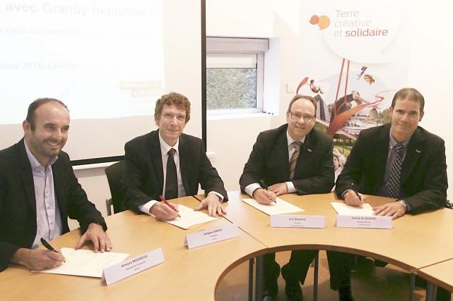 Amaury Mourcou et Jacques Oberti, respectivement directeur de... (fournie par Granby industriel)