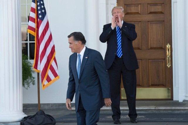 L'option Mitt Romney permettrait à Donald Trump de... (PHOTO AFP)