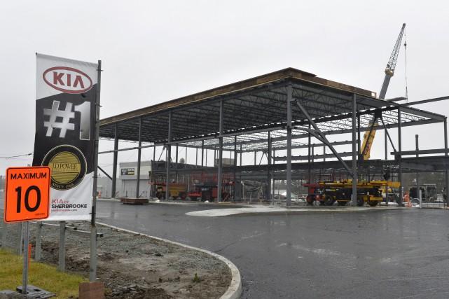 Kia de Sherbrooke aura un nouvel édifice dans... (Spectre Média, Maxime Picard)