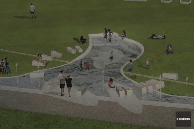 Le projet de «jeux d'eau», auparavant désigné «fontaine»,... (Sylvain Mayer, Le Nouvelliste)