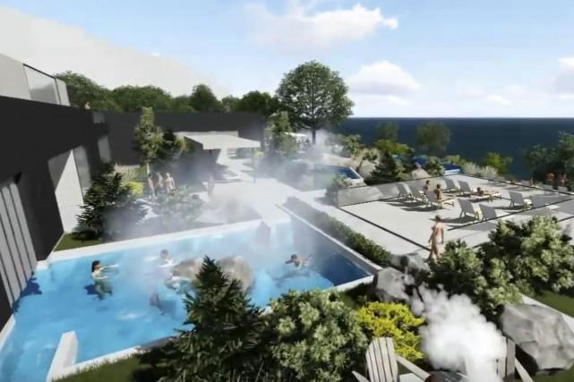 Des citoyens ont réagi au projet de spa... (image tirée d'une vidéo du Port de Québec)