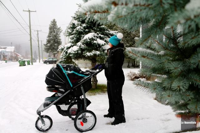 Les Latuquois ont pu profiter de la neige... (Audrey Tremblay, Le Nouvelliste)