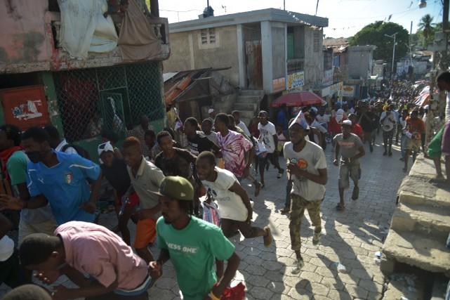 Dans les quartiers les plus pauvres de Port-au-Prince,... (AFP, Hector Retamal)