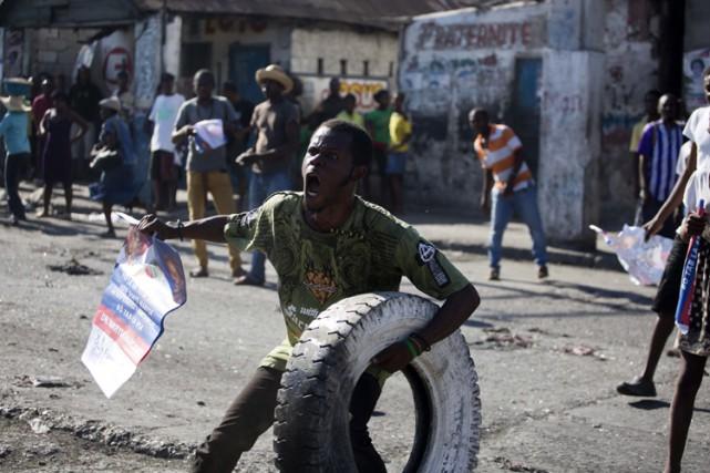 Dans les quartiers les plus pauvres de Port-au-Prince,... (PHOTO AP)