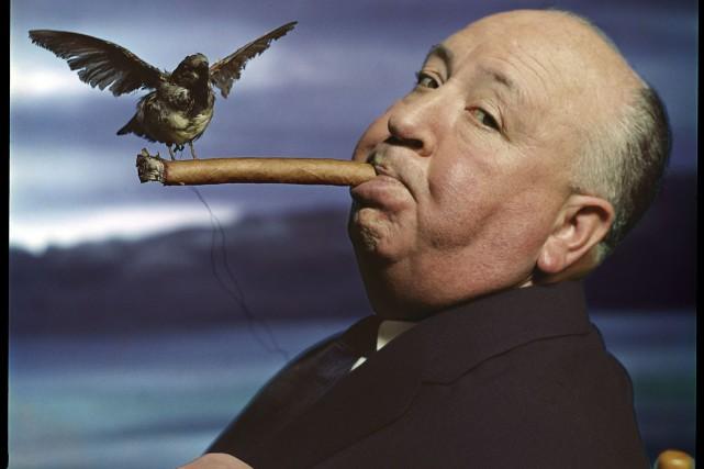 Un portrait du cinéaste Alfred Hitchcock, pour la... (fournie par le Musée de l'Élysée)