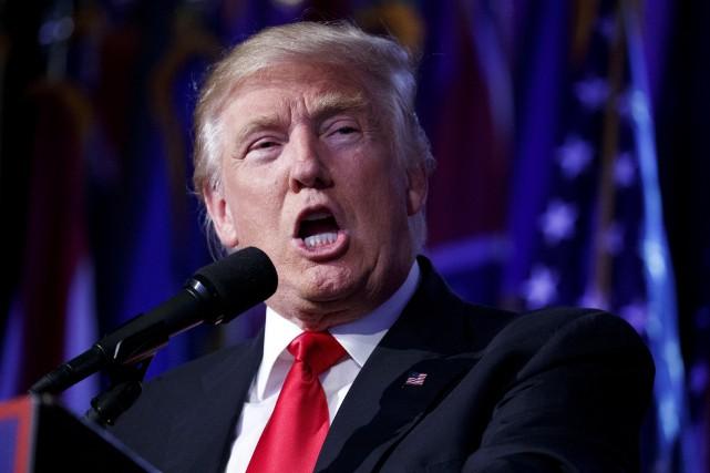 Donald Trump a soutenu mardi que quiconque brûlait... (AP, Evan Vucci)