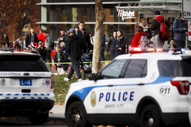 L'attaque de lundi a fait 11 blesséssur le... (AP, John Minchillo)