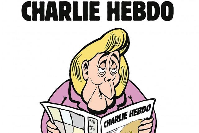 Une partie de l'affiche que Charlie Hebdo a... (AFP)