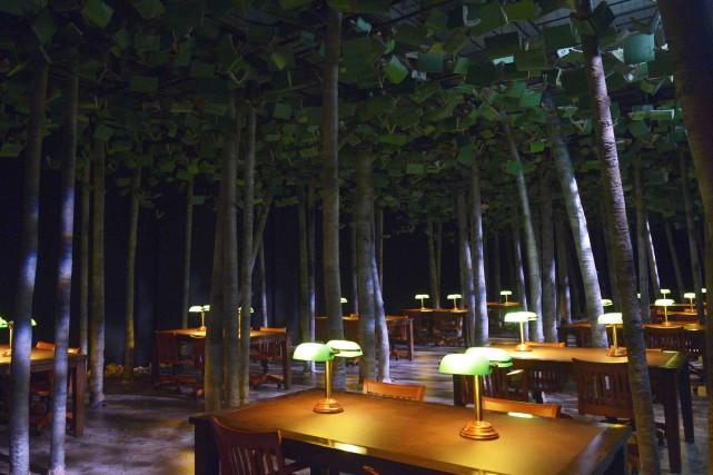 La bibliothèque, la nuit... (Photothèque Le Soleil, Jean-Marie Villeneuve)