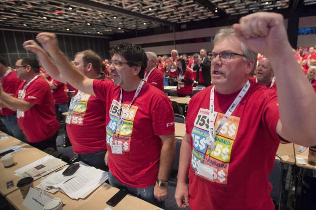 Réunis en congrès à Montréal, 1000 membres de... (La Presse Canadienne, Paul Chiasson)