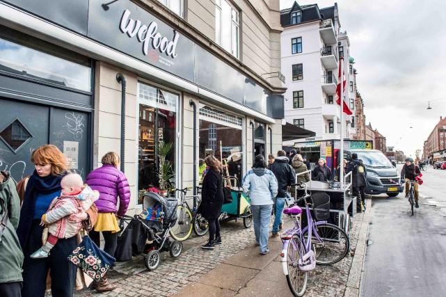 Chez Wefood, on ne vend que des produits... (AFP, Soren Bidstrup)