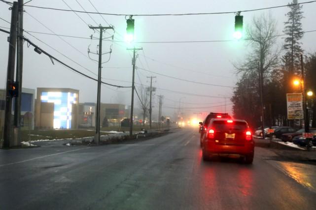 L'intersection du chemin Vanier et du boulevard des... (Patrick Woodbury)