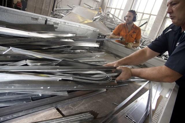 Le nouveau centre de tri de métaux de... (Reuters)