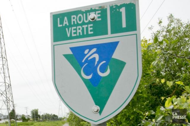 La Route verte est encore une fois coupée en deux dans la région de Magog. (Archives La Presse)