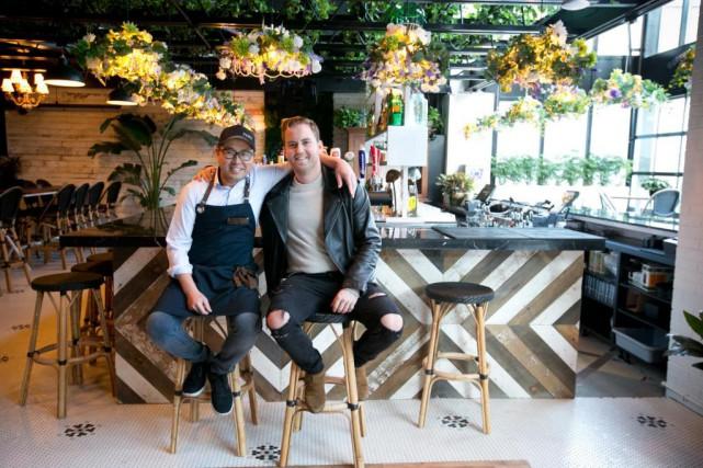Le chef Antonio Park et PJ Goupil du... (PHOTO FRANÇOIS ROY, LA PRESSE)