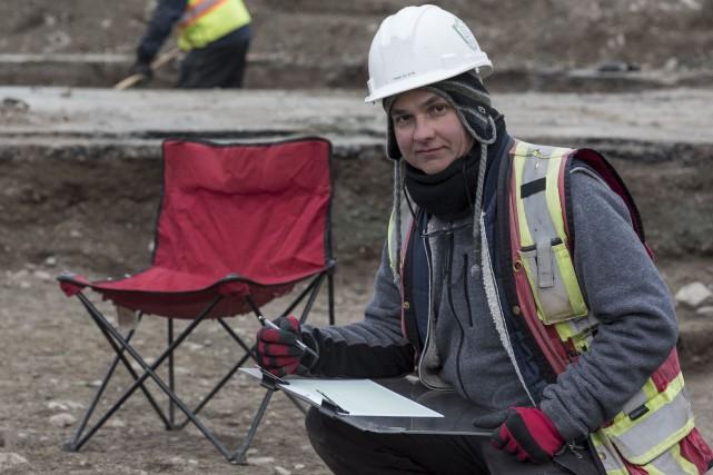 Yanik Blouin, archéologue à l'emploi de la firme... (Spectre Média, Frédéric Côté)