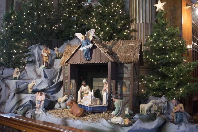 Une crèche de Noël.... (Stéphane Lessard)
