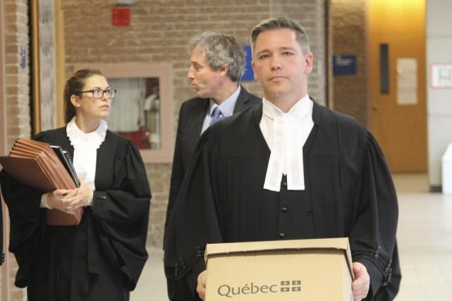 Les procureurs aux poursuites criminelles, Me Sacha Blais... (La Tribune, René-Charles Quirion)