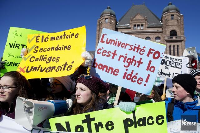 Le RÉFO et la FESFO unissent leur voix... (Archives, La Presse canadienne)