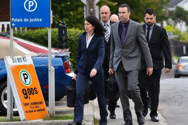 Le procès des quatre policiers impliqués dans le... (Photo: François Gervais)
