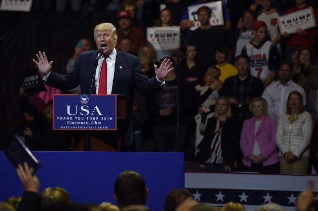 «Nous allons rassembler notre pays, tout notre pays»,... (PHOTO TIMOTHY A. CLARY, AFP)
