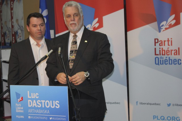 Le premier ministre du Québec et chef du... (La Tribune, Yanick Poisson)