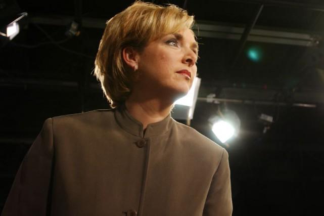 La lectrice de nouvelles Sophie Thibault.... (Photo: Patrick Sanfaçon, archives La Presse)