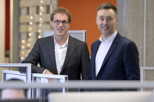Les deux principaux actionnaires de Kronos Technologies, Jean-François... (Le Soleil, Yan Doublet)