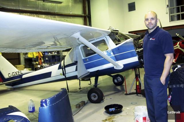 Jonathan Blais, propriétaire de Blais Aéronautique, estime que... (Etienne Ranger, Le Droit)