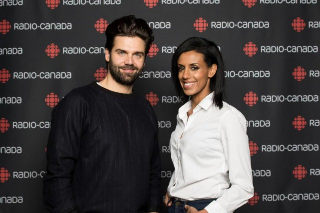 Les animateurs Jean-Philippe Wauthier et RebeccaMakonnen... (Photo fournie par ICI Radio-Canada Télé)