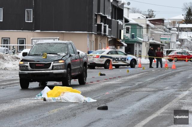 L'impact n'a donné aucune chance à la victime.... (Photo Le Quotidien, Rocket Lavoie)