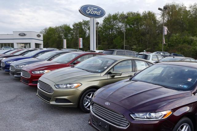 Des Ford Fusion 2013 visées par le rappel.... (Photo : AP)