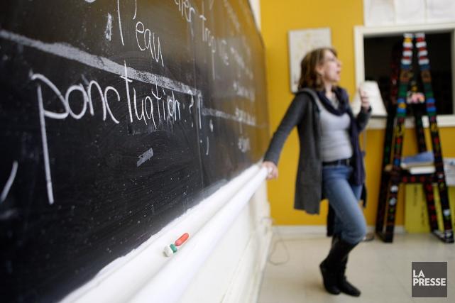 «Les organismes pour l'alphabétisation sont les parents pauvres... (Martin Chamberland, archives La Presse)