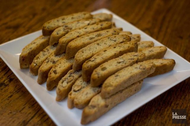 Un grand classique de la cuisine italienne, les biscottis se mangent toute... (Photo Olivier PontBriand, La Presse)