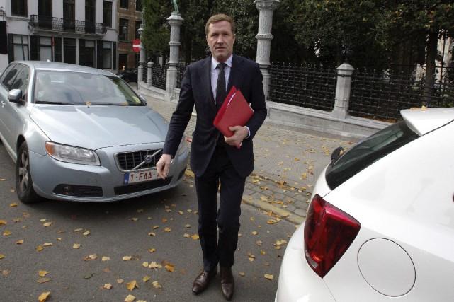 Le chef du gouvernement wallon, Paul Magnette... (AFP, Nicolas Maeterlinck)