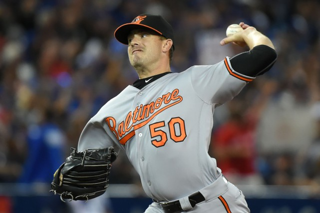 Brian Duensing a porté les couleurs des Orioles de... (PHOTO Dan Hamilton, USA Today Sports)