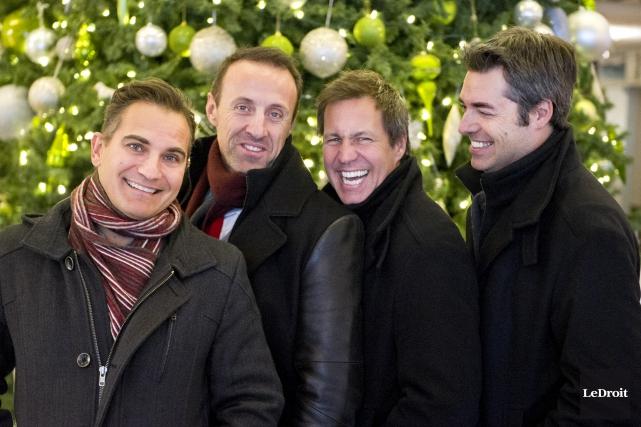 Patrick Olafson, René Lajoie, Benoît Miron et Dany... (Martin Roy, Le Droit)