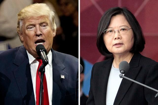 Le président-élu Donald Trump, et la présidente de... (AP, Evan Vucci, Chinag Ying-ying)