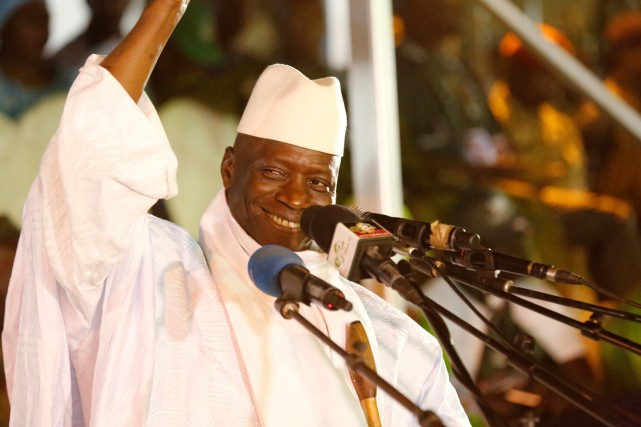 Yahya Jammeh... (PHOTO Thierry Gouegnon, ARCHIVES REUTERS)