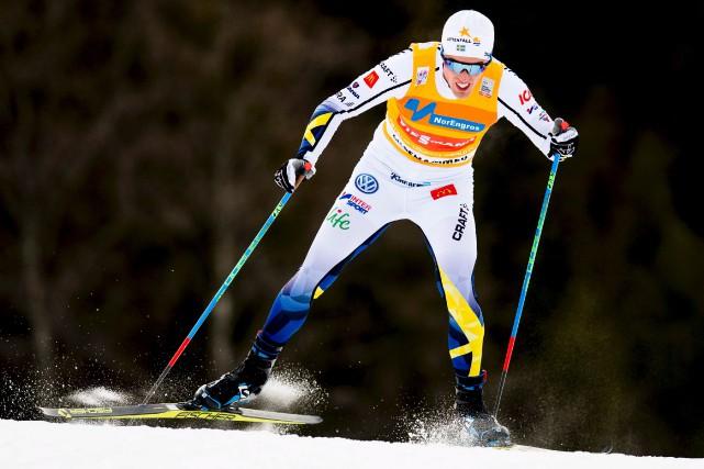 Pour la deuxième journée de suite, le Suédois... (AFP, Jon Olav)