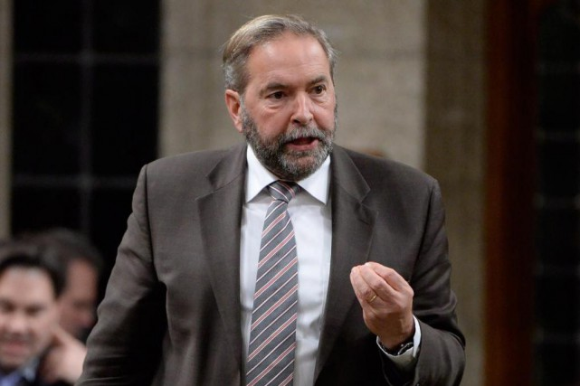 Le chef néo-démocrate Thomas Mulcair presse Ottawa d'agir... (Photo Adrian Wyld, La Presse Canadienne)