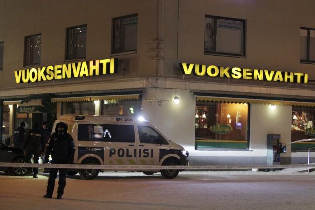Les trois femmes ont été tuées par un... (PHOTO LAURI HEINO, AGENCE FRANCE-PRESSE/LEHTIKUVA)