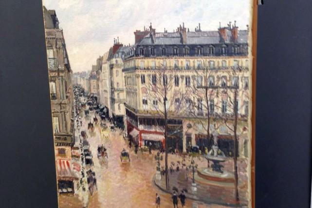 C'est le tableau Rue Saint-Honoré, dans l'apre's-midi. Effet... (AP, Jonathan Petropolous)