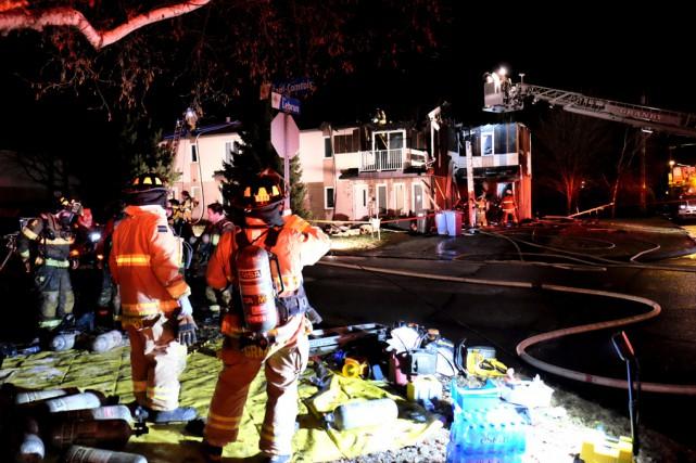 L'incendie d'un quadruplex situé à l'angle des rues... (Alain Dion)