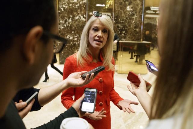La conseillère de Donald Trump, Kellyanne Conway, a... (PHOTO AP)