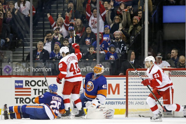 Danny DeKeyser a marqué à 1:02 de la prolongation et les Red Wings de Detroit... (Photo AP)