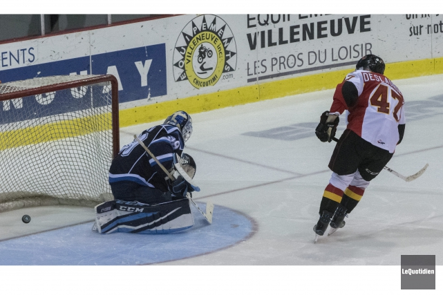 Vincent Deslauriers a marqué le but qui a... (Photo Le Quotidien, Michel Tremblay)