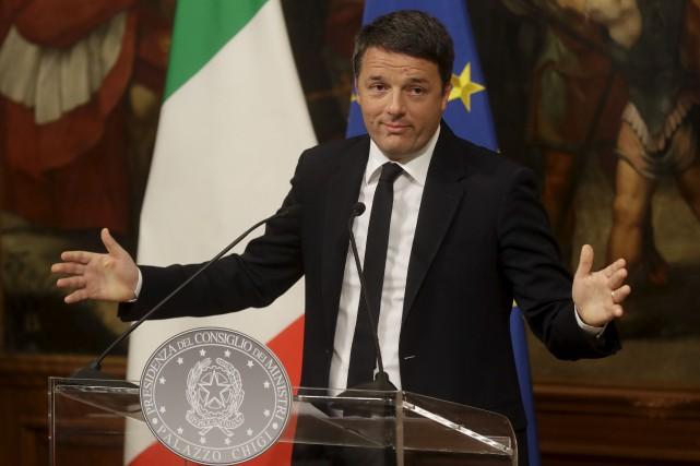 Le président du conseil de l'Italie, Matteo Renzi,... (AP, Gregorio Borgia)