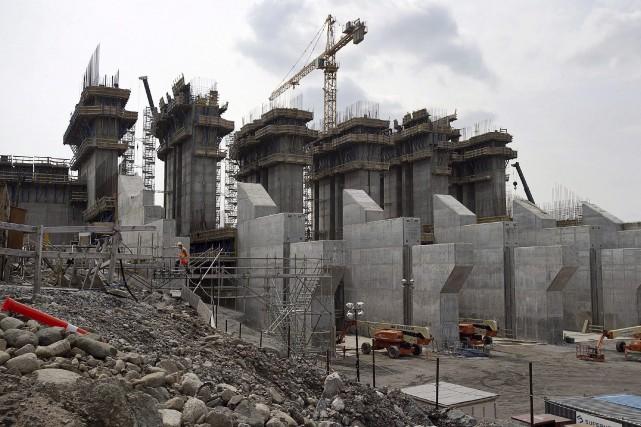Le projet hydroélectrique Muskrat Falls, qui est actuellement... (La Presse canadienne, Andrew Vaughan)