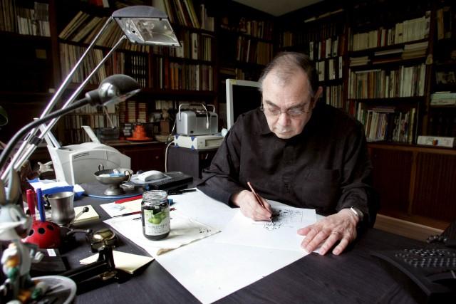 Gotlib, père des personnages Gai-Luron, Hamster jovial et... (AFP, François Guillot)